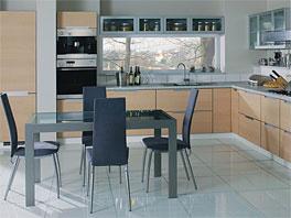 Кухонная мебель из шпона - Кухня из шпона № 12