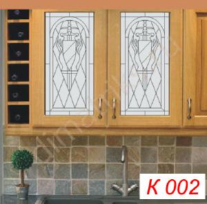 Витражи - Кухонные фасады с витражными вставками