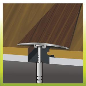Пороги алюминиевые декорированные стыкоперекрывающие - Порожек алюминиевый стыко