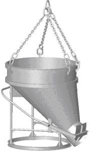Бункер бетоноприемный Рюмка,Слоник 0,5-2,0 куб.м. - Бункер бетоноприемный Слоник
