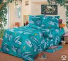 Постельное бельё - Комплект постельного белья 1,5 спальный бязь набивная пл.120-