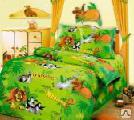 Комплекты постельного белья - КПБ детский 110х150 бязь цветная пл. 100-110 гм2