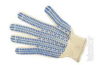 Рабочие перчатки, 5 нитка, 7,5 класс, ПВХ