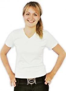 текстиль для печати - Футболка женская V-ворот 100% полиэстер