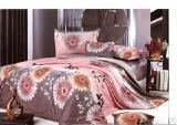 Элитное постельное белье - Комплект постельного белья Герберы сатин