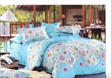 Элитное постельное белье - Комплект постельного белья Бирюза сатин
