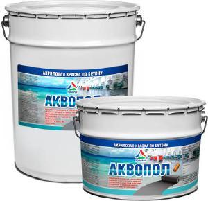 Аквопол - акриловая краска для бетонных полов