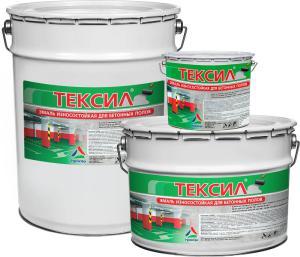 Тексил - износостойкая краска по бетону
