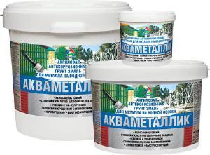 Антикоррозионные эмали - Акваметаллик - грунт-эмаль по металлу акриловая на водн