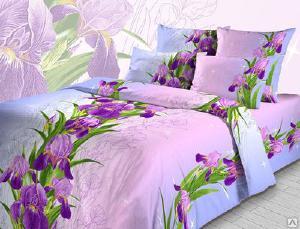 Постельное белье - Комплект постельного белья Нежные ирисы 1.5сп