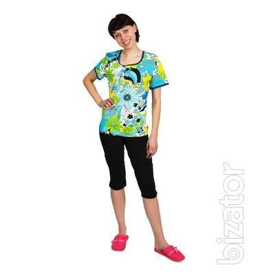 Трикотажный костюм женский домашний