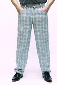 Джинсы оптом от 1$!! Одежда оптом от «мешка»! - джинсы-брюки голуб. крупная клет
