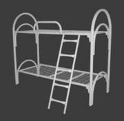 Металлические армейские кровати - Двухъярусная металлическая кровать