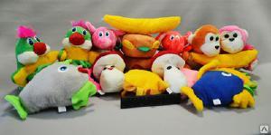 Игрушки текстильные - Мягкие игрушки для кран машин в ассортименте