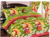 Постельное белье - 1 - Комплект постельного белья Маша с Мишей розовый
