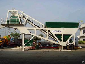 Бетонные заводы-2 - Мобильный бетонный завод серии YHZS