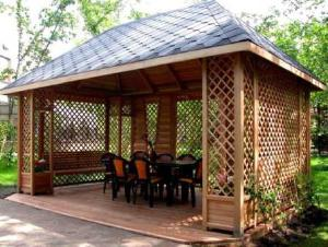 Садовая мебель из дерева - Садовые беседки!