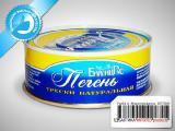 Консервы рыбные натуральные - Печень трески Высший сорт