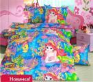 Домашний текстиль 3 - Постельное белье «Премиум», бязь, 1,5-сп, «Морская сказка»