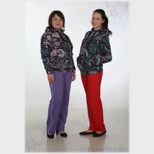 Женская трикотажная одежда 4 - Толстовка женская Т-142, футер 3-х нитка (р.46-60