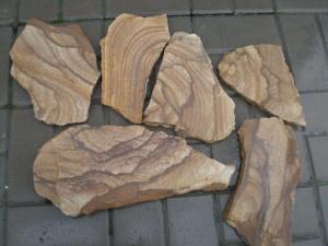Натуральный камень Тигровый песчаник пластушка