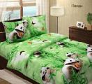 """Постельное белье 3 - 12.Комплект постельного белья """"Панды 3D"""", бязь Люкс."""