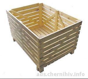 тара деревянная - ящики крупногабаритные, контейнеры овощные