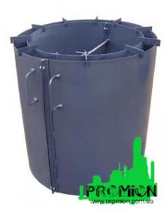 Формы для железобетонных колец - Форма для бетонных колодязных колец. Разборная