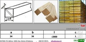 Брусок ольховый для ящиков - 32x32, 33x33, 34x34, 35x35