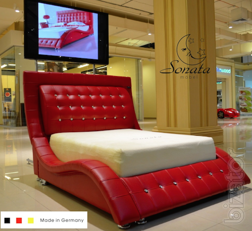 Стильные кровати из кожи - Кожаная кровать