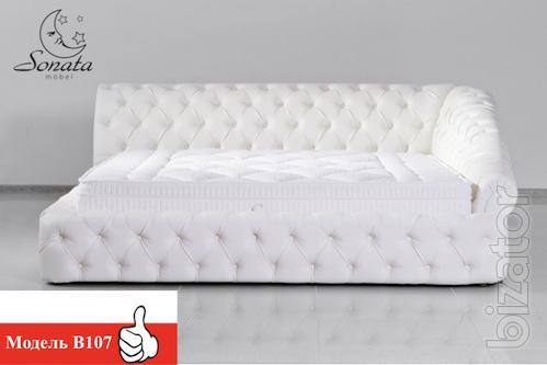 Стильные кровати из кожи - Белая кровать
