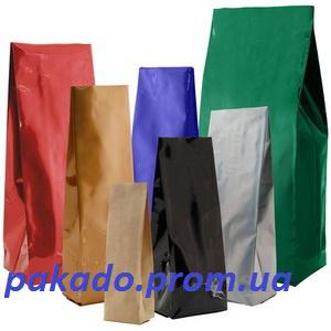 Пакет с центральным швом и боковыми закладками