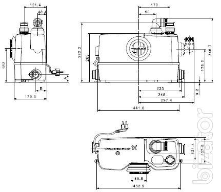 Gut bekannt Sololift2 WC-3 Grundfos sewage installation. - Buy on www.bizator.com PW44