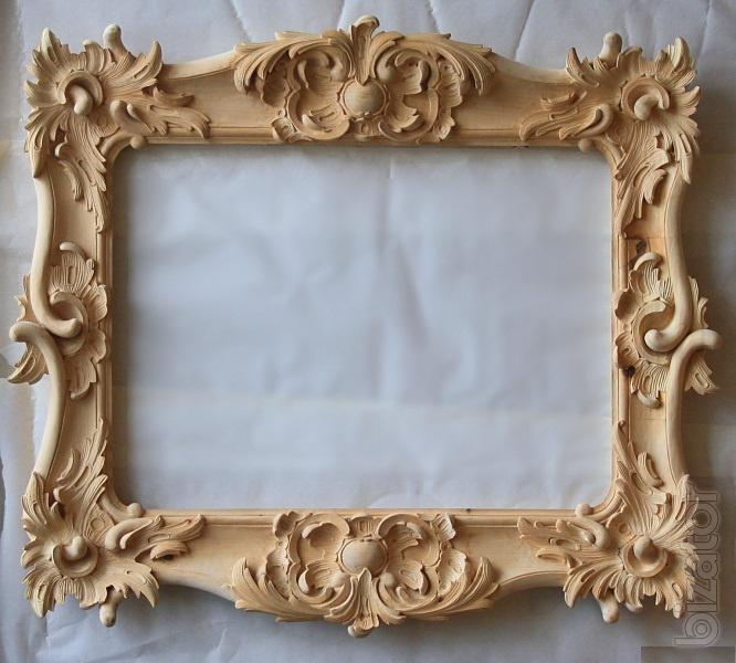 Carved wooden frames for paintings, mirrors - Buy on www ...